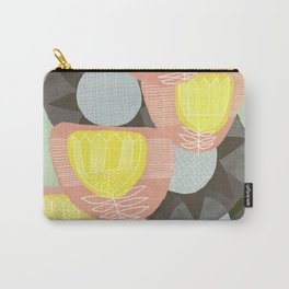 Big Flowers on Sage Carry-All Pouch