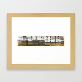 Distorted view from a train Framed Art Print