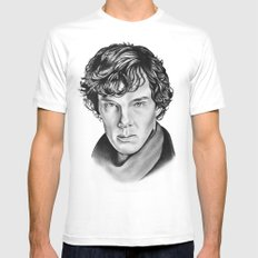 Sherlock Mens Fitted Tee White MEDIUM