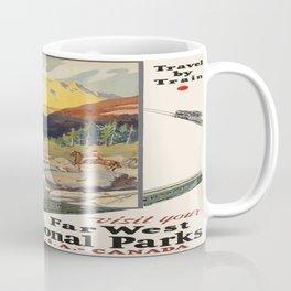 Vintage poster - National parks Coffee Mug