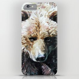 Bear Wild and Free iPhone Case