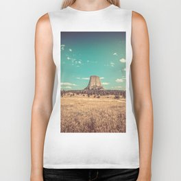 Devil's Tower National Monument Wyoming Biker Tank