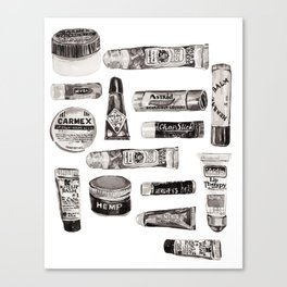 Lipbalm Collection Canvas Print
