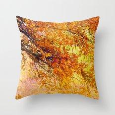 Autumn in paradise Throw Pillow