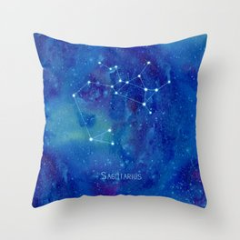Constellation Sagittarius  Throw Pillow