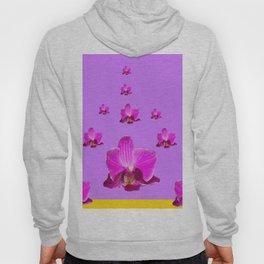 PURPLE ORCHID FLOWERS RAIN YELLOW ART Hoody
