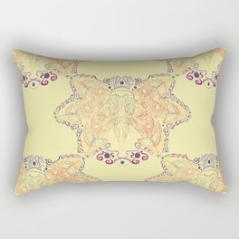 Atlantic Puffin ~ Yellow  Rectangular Pillow