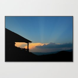 Sweet Silhouette * Little Switzerland  Canvas Print