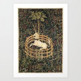 Unicorn in Captivity Kunstdrucke