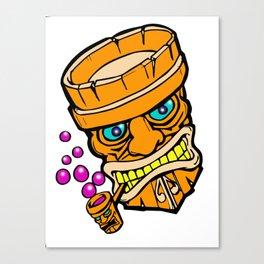 Mr Tiki the bubble blow'n machine Canvas Print