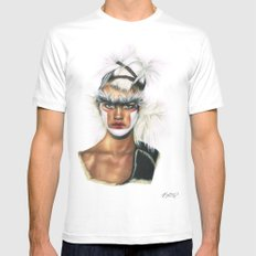 Fashion High. MEDIUM Mens Fitted Tee White