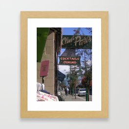 Downtown Anchorage Framed Art Print
