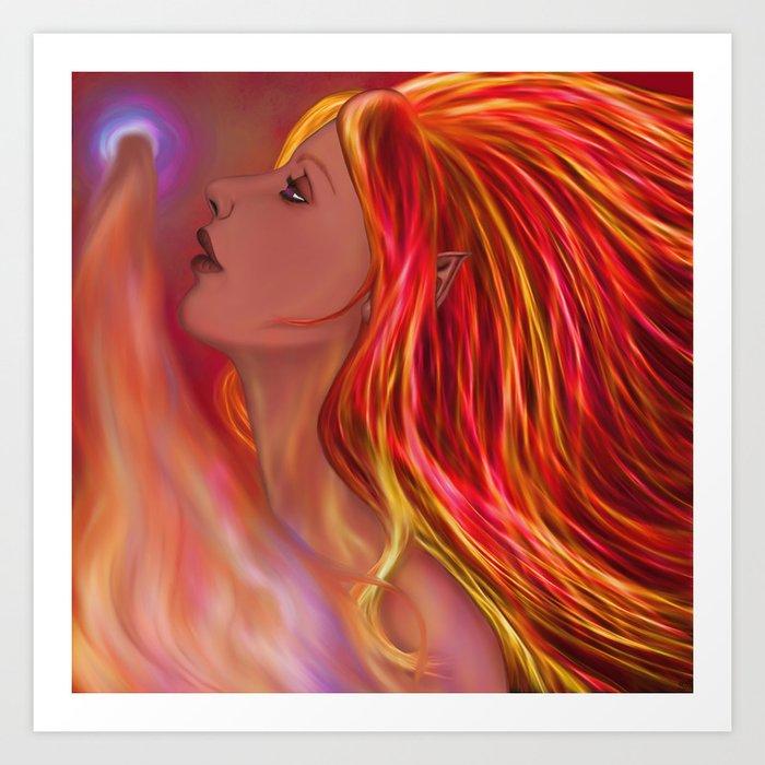 Flame Maiden Art Print