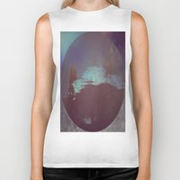lunar Biker Tanks featuring Lunar Light by Jane Lacey Smith