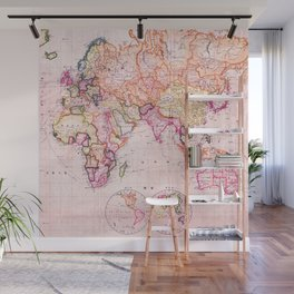 Vintage Map Pattern Wall Mural