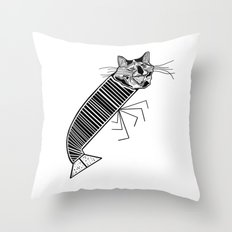 Catmarón Throw Pillow