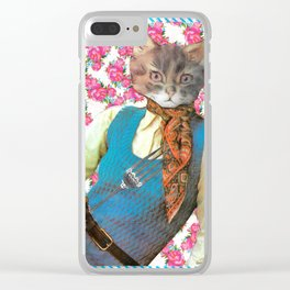 Din Dins handcut collage Clear iPhone Case