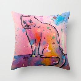 My cat love Throw Pillow