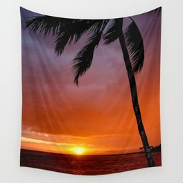 Beach Sunset Portrait Wall Tapestry
