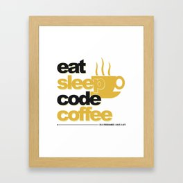 Programmer - eat sleep code coffee Framed Art Print