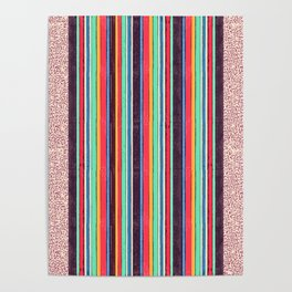 Stripes and pattern in primaries Poster