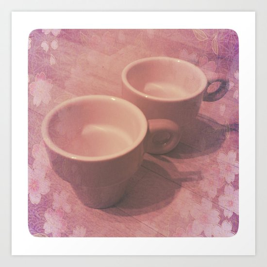GOOD MORNING - still life with cups Art Print