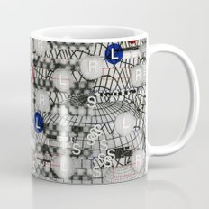 Do The Hokey Pokey (P/D3 Glitch Collage Studies) Coffee Mug