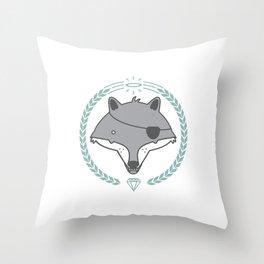 Mr. Wolf Throw Pillow