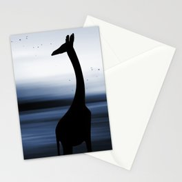 Giraffe and nature Stationery Cards
