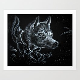 Husky Potter Art Print