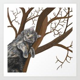 Tree Cat Art Print