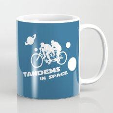 Tandems in Space in Blue Mug