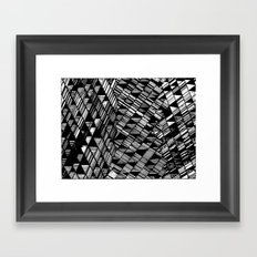 Moving Panes Black & White Framed Art Print