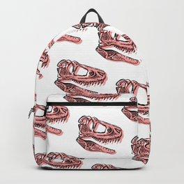 Dinosaur Skeleton T-Rex Illustration Backpack