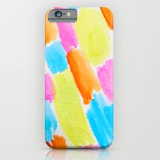 Brushstrokes - candy clouds pattern iPhone 6s Slim Case