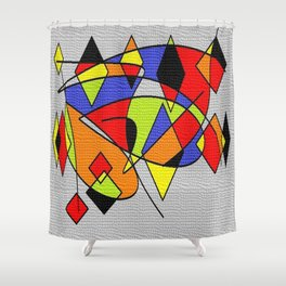 Abs space grey Shower Curtain