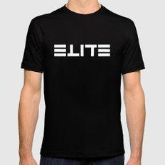 ELITE - Ambigram series (Black) Mens Fitted Tee MEDIUM Black
