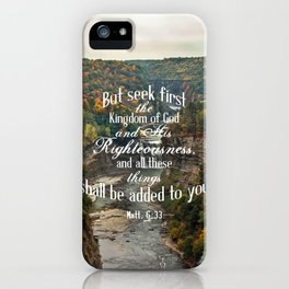Seek First iPhone Case