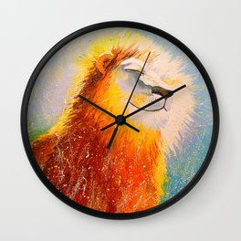 Happy lion Wall Clock