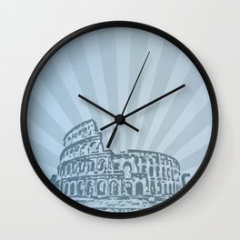 the colosseum... famous momument series Wall Clock