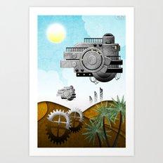 Station//Desert (4 of 6) Art Print