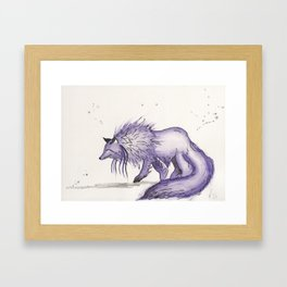 Hitodama the spirit wolf. Framed Art Print