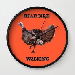 Dead Bird Walking Wall Clock