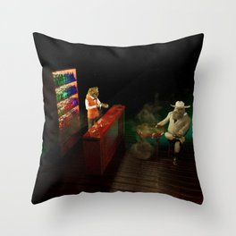 The Patron and the Mixologist Throw Pillow