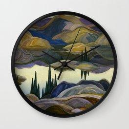 Canadian Landscape Franklin Carmichael Art Nouveau Post-Impressionism Mirror Lake Wall Clock