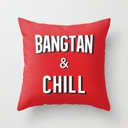 BANGTAN & CHILL Throw Pillow