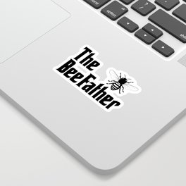 Beekeeping Funny Design - The BeeFather Sticker