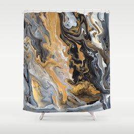 Gold Vein Marble Shower Curtain