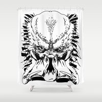 predator Shower Curtains featuring Predator by P2theK