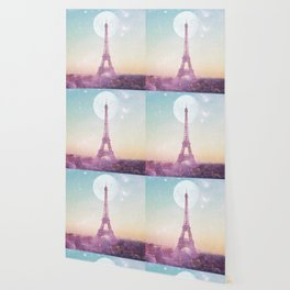 I LOVE PINK PARIS EIFFEL TOWER - Full Moon Universe Wallpaper